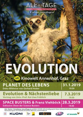 Plakatmotiv: Evolution & Nächstenliebe