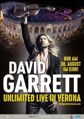 Plakatmotiv: David Garrett: Unlimited - Live in Verona