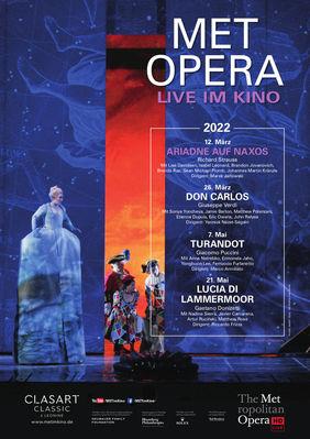 Plakatmotiv: Met Opera 2021/22: Richard Strauss ARIADNE AUF NAXOS