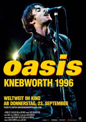 Plakatmotiv: OASIS Knebworth 1996