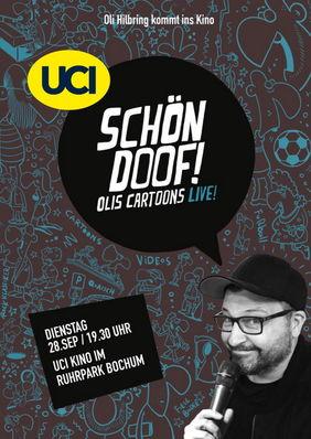 Plakatmotiv: Oli Hilbring: Schön doof! Olis Cartoons LIVE